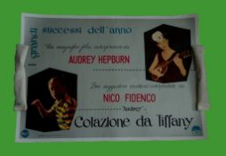 1962 - Breakfast at Tiffany?s - Film Soundtrack Italian Photobusta - Audrey Hepburn and her