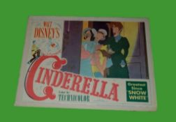 1950 - Cinderella - Lobby Card - Step Mother and the Ugly Sisters - Disney's classic animated
