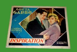 1931 - Inspiration - Lobby Card - Superb image of Greta Garbo Condition: Good