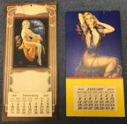 Vintage glamour calendars x 2 - complete, unmarked & un-clipped - 1932 is Flat Good to Fine 'Irene