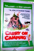 1969 - Carry On Camping - US One Sheet - Barbara Windsor takes centre stage from the Carry On gang