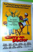 1967 - Carry On Doctor - US One Sheet - Great Sid James caricature with Barbara Windsor as the
