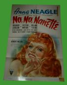 1940 - No No Nanette - US One Sheet - Beautiful art of Anna Neagle in this farce. Condition: