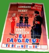 1942 - To Be Or Not To Be - French Grande - Original French Release, the film was not released in