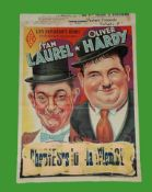 1940's - Laurel & Hardy - Belgium Affiche - Belgium re released the Laurel and Hardy films on a