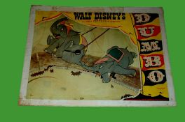 1941 - Dumbo - Lobby Card - Original Release featuring the acrobatic elephants. Condition: Fair