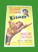 1944 - Kismet - US One Sheet. Rare Style D Superb art of Marlene Dietrich and Ronald Coleman in this