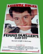 1986 - Ferris Bueller - US One Sheet - Style A image for the film showing Matthew Broderick as the