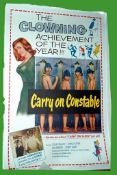1960 - Carry On Constable - UK One Sheet - Superb Colour art of the Carry On gang as the boys in