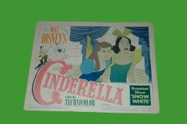 1950 - Cinderella - Lobby Card - Ugly Sisters. Disney's classic animated version of the childrens