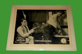 1921 - Now Or Never - Lobby Card - Harold Lloyd sharpens his blade. Condition: Good