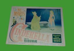 1950 - Cinderella - Lobby Card - Fairy Godmother scene card. Disney's classic animated version of