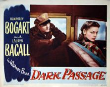 1947 - Dark Passage - US Lobby Card No. 5 - Lauren Bacall?s timeless beauty is clearly evident in