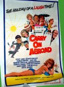 1972 - Carry On Abroad - US One Sheet - Arnoldo Putzo Art - great caricatures of the Carry On Gang