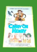1971 - Carry On Henry - UK One Sheet - Sid James as Henry VIII in the cheeky pop at the Tudors.