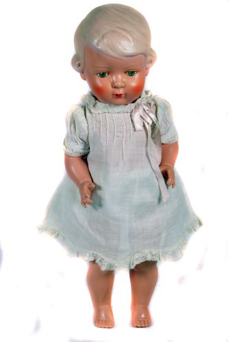 Antique Celluloid Doll - 'Paul Hausmeister Germany' - All Celluloid Jointed Body - Circa. 1920s -