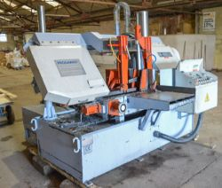 Mega H-460A Automatic Bandsaw & Atlas Copco GA11VSD Rotary Screw Compressor