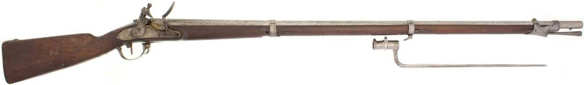 Steinschlossgewehr, Infanterie 1817 (franz. 1777), Kanton Aargau, Kal. 17.6mm LL 1140mm, TL