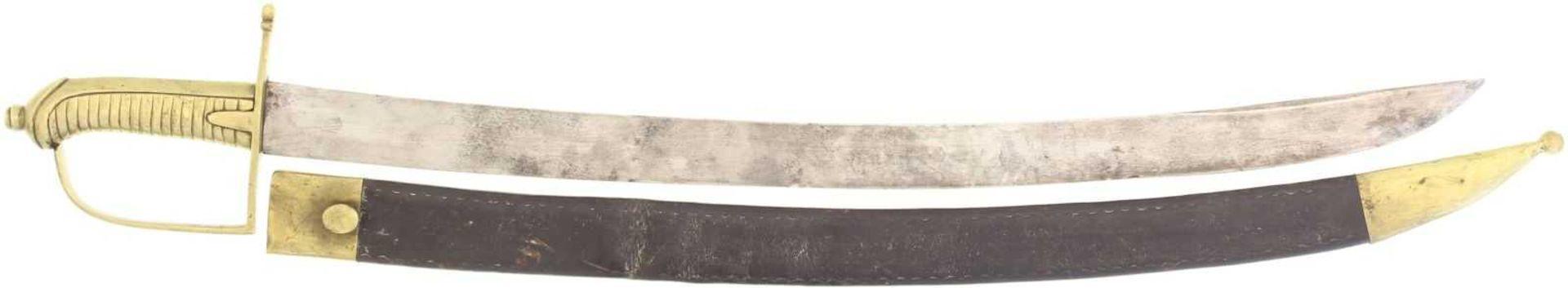 Säbel 1804, Kantonale Ord. für unberittene Mannschaft KL 600mm, TL 730mm, Klinge volle Wurzel,