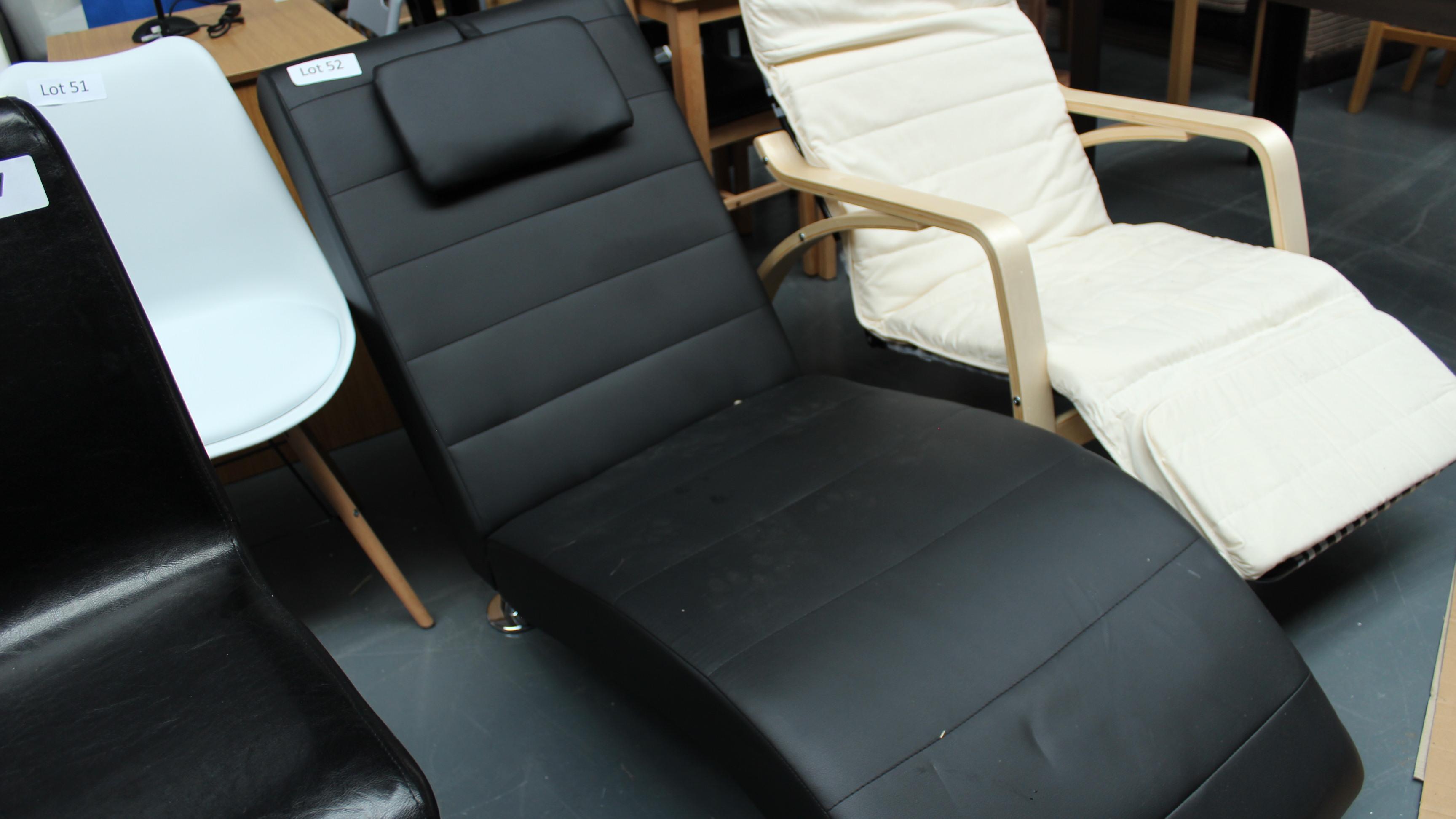 Lot 52 - Black Chaise Longue. Customer Returns