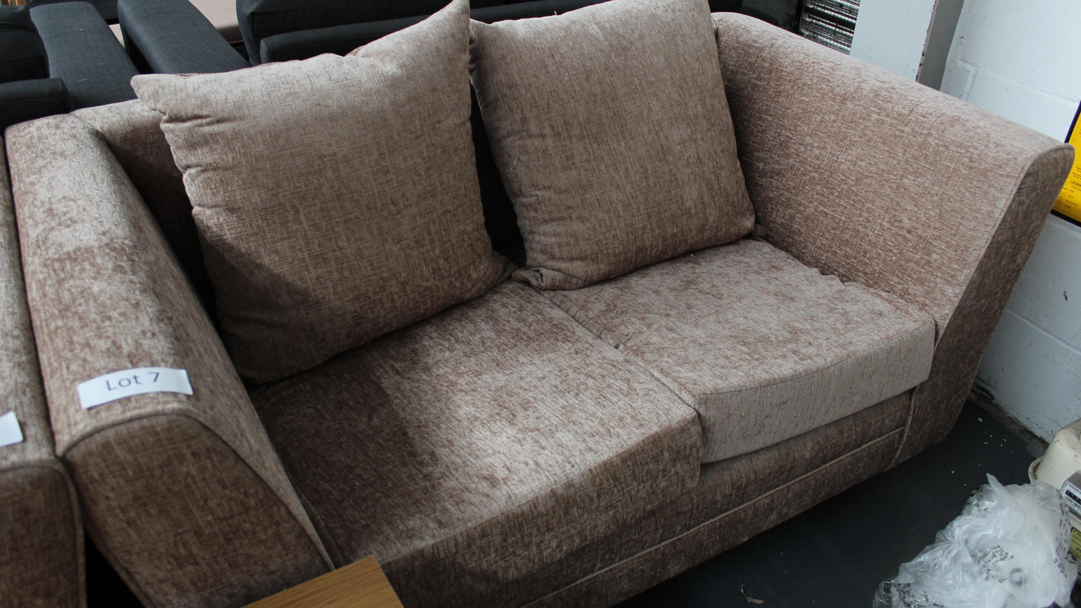 Lot 7 - 2 Seater Mink sofa Customer Returns
