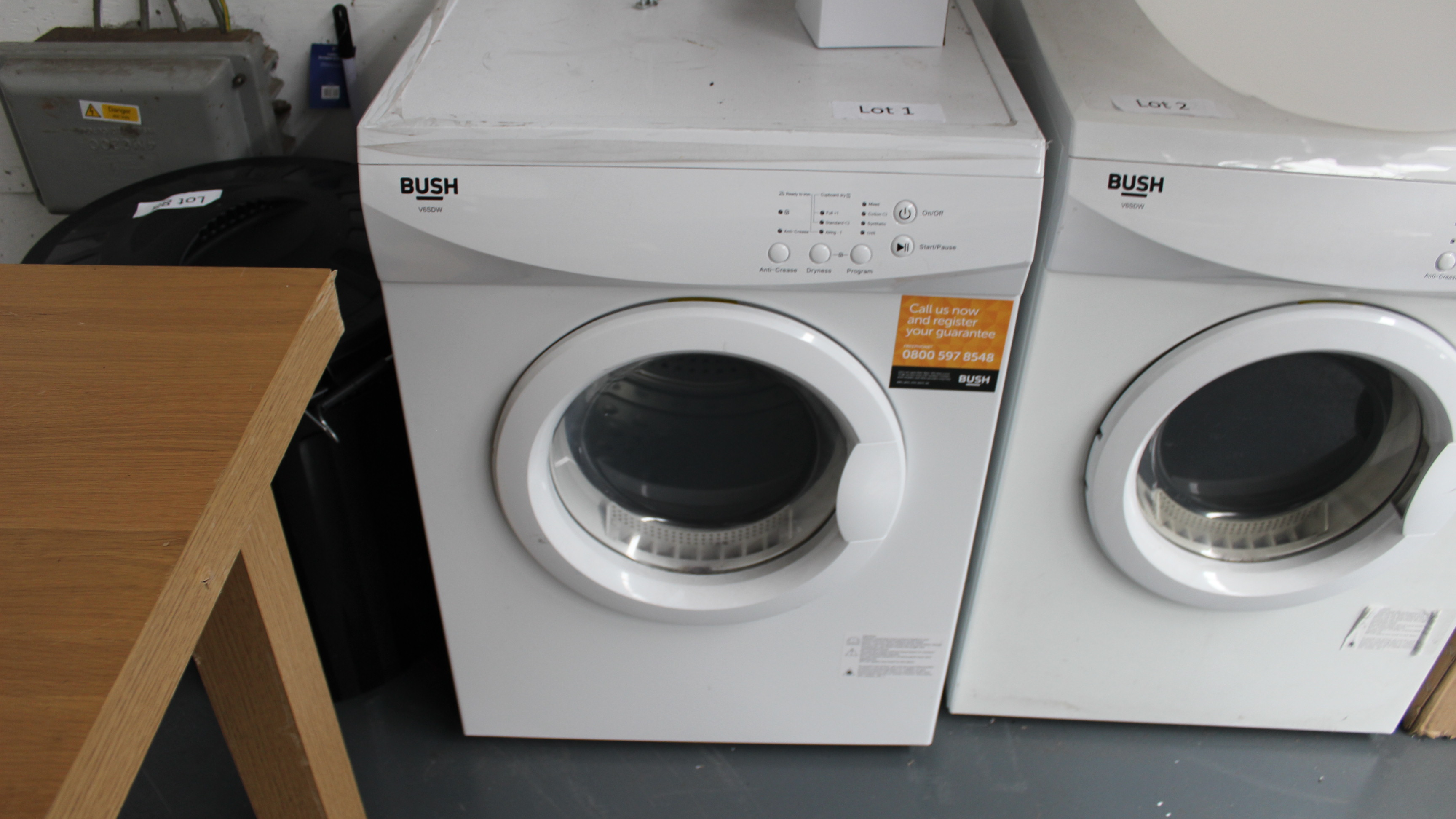 Lot 1 - Bush V6SDW Tumble Dryer Customer Returns