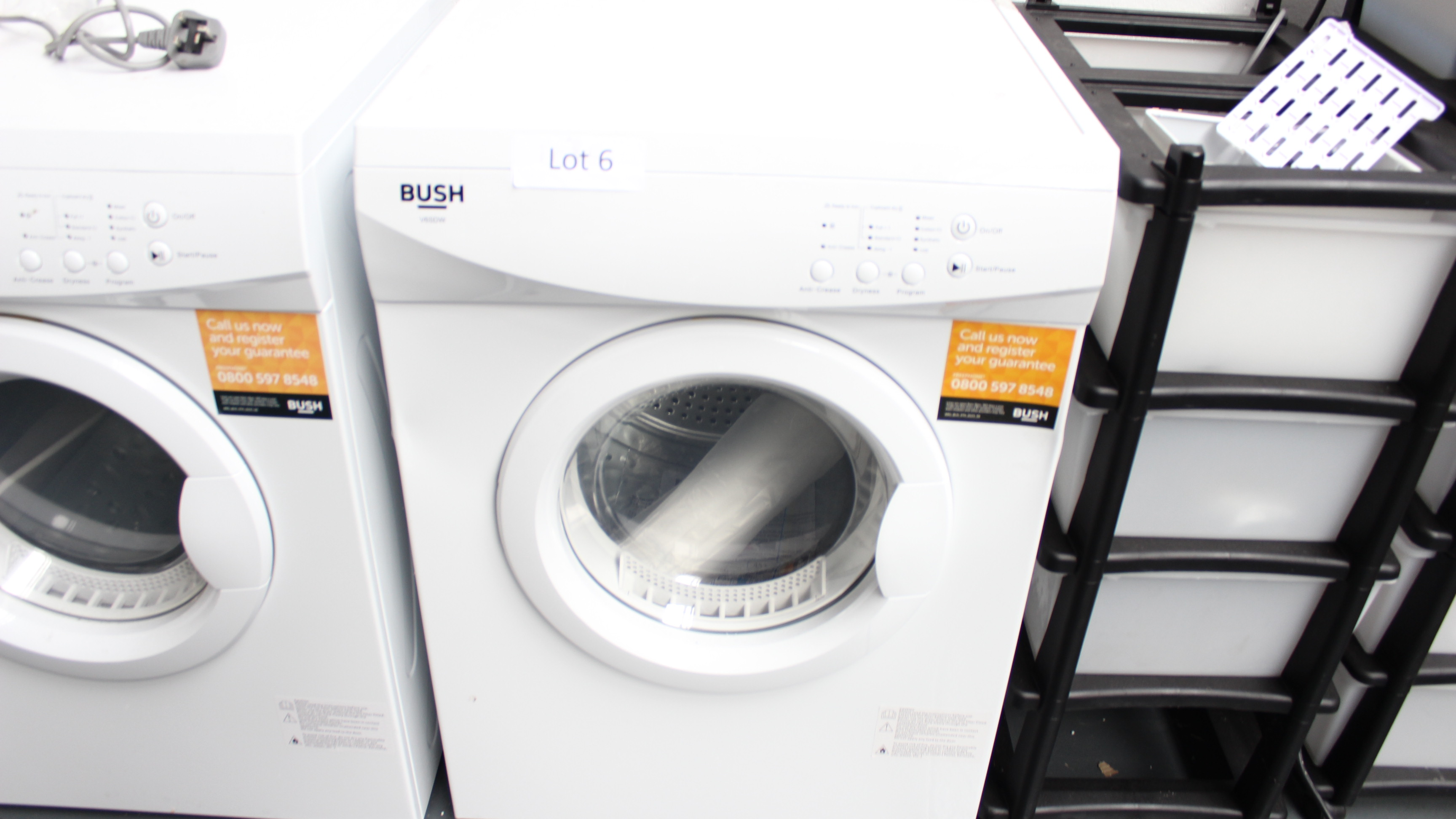 Lot 6 - Bush V6SDW Tumble Dryer Customer Returns