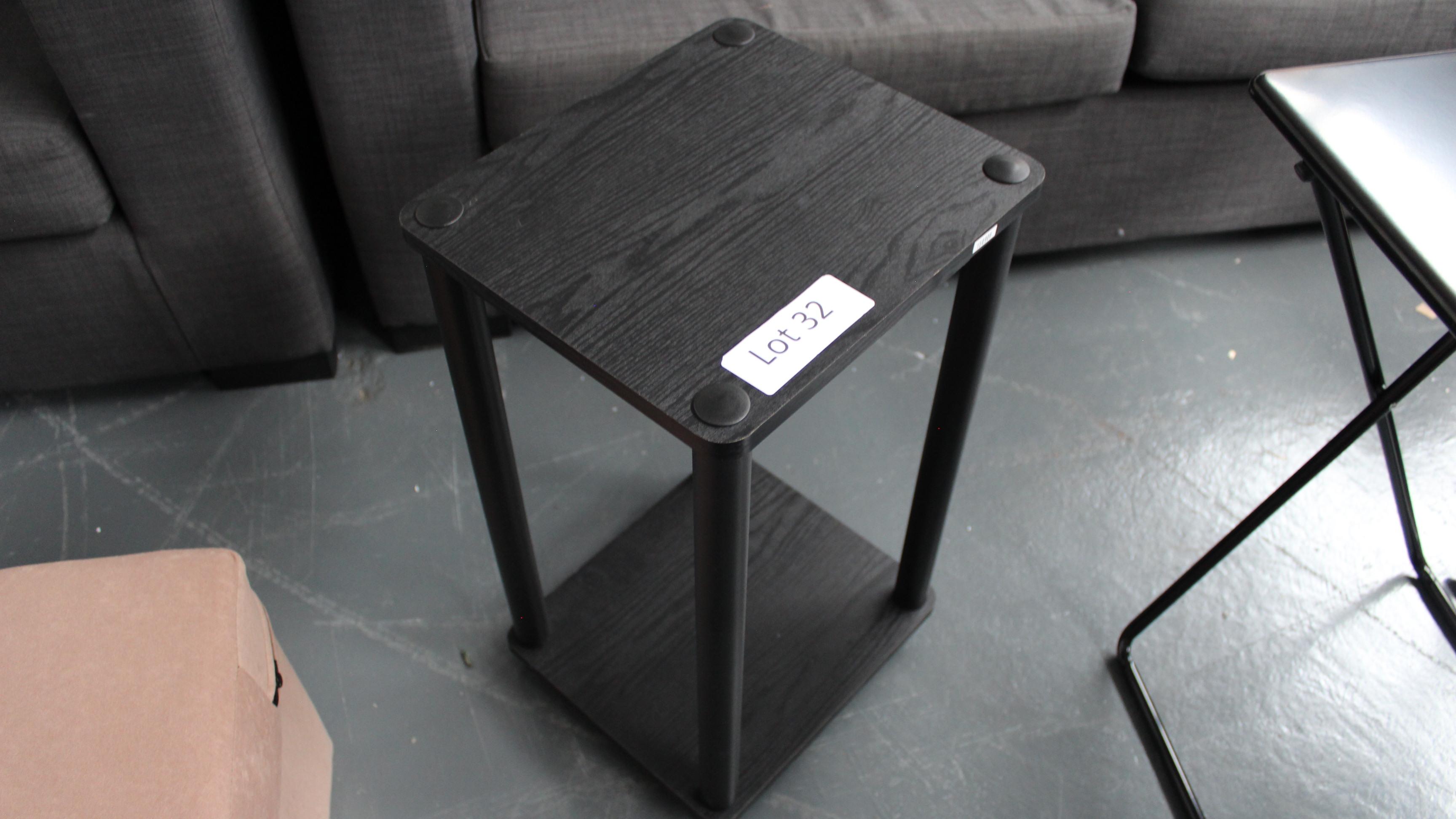 Lot 32 - Black Table. Customer Returns