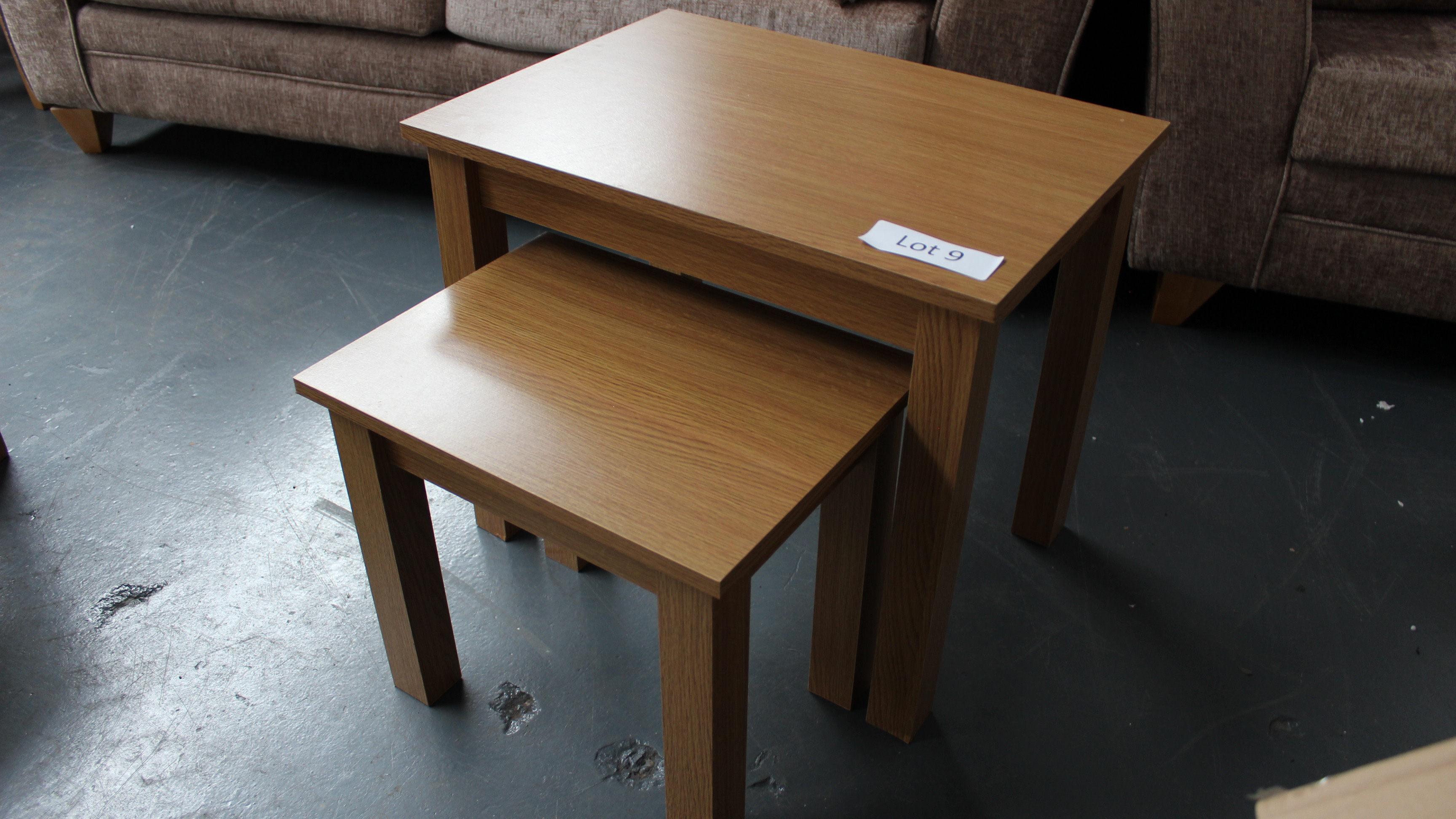 Lot 9 - Nest of 2 Wooden Tables Customer Returns