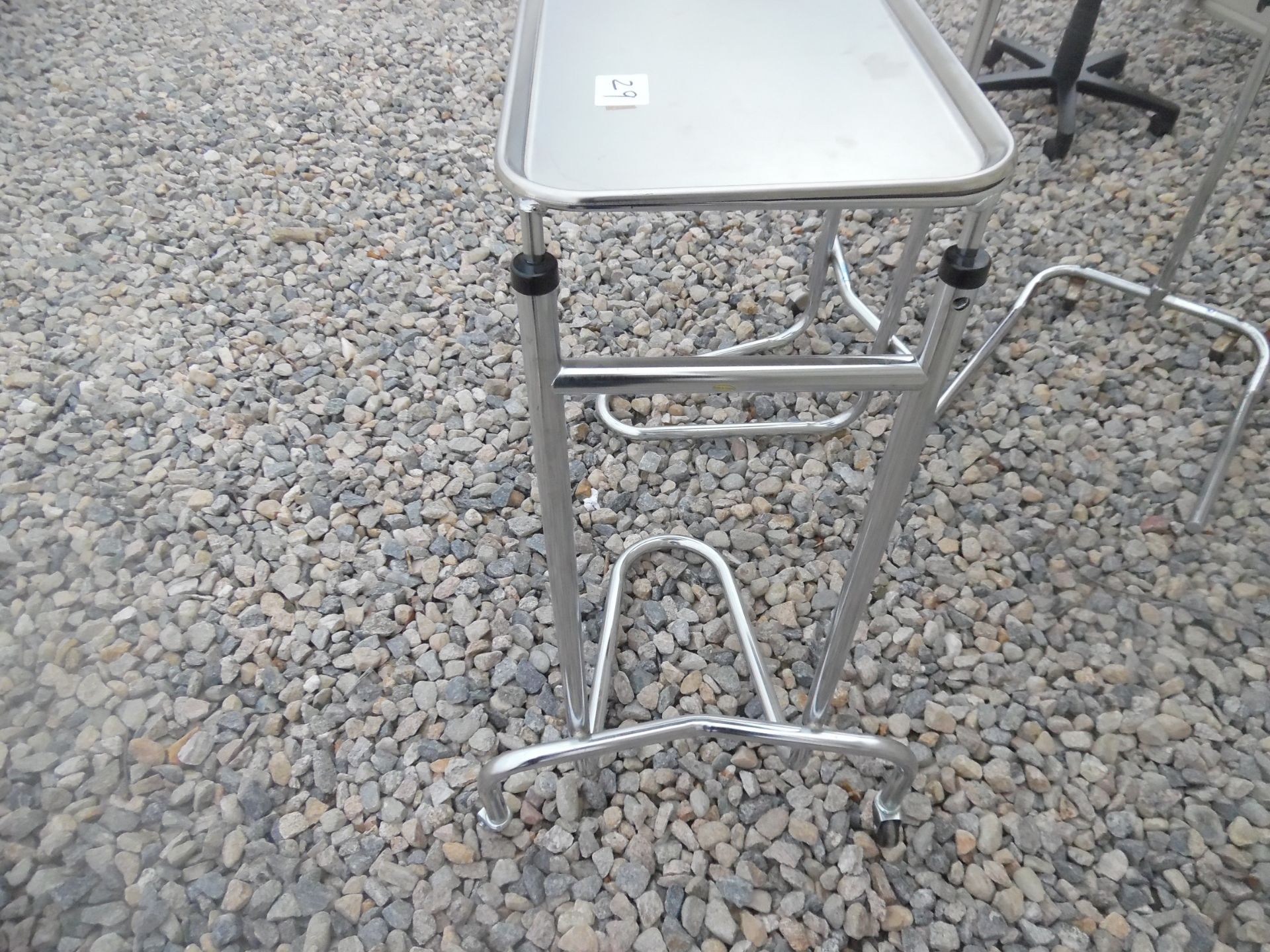 Lot of 3 Medical/surgical stands with trays. - Image 4 of 4
