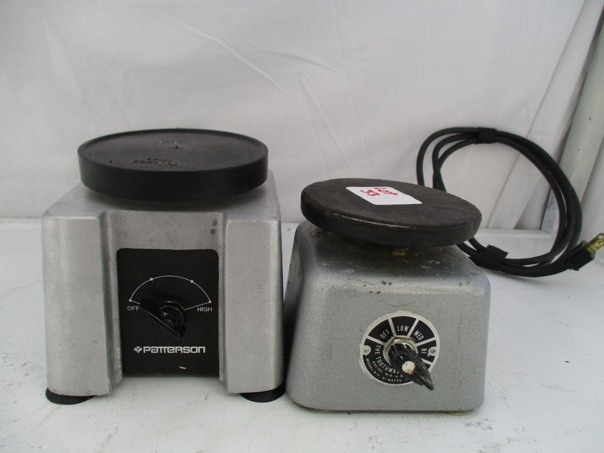 Patterson Dental Vibrator 150W 120V plus Toothmaster Model 6H Plaster Vibrator 31 watts, 115V