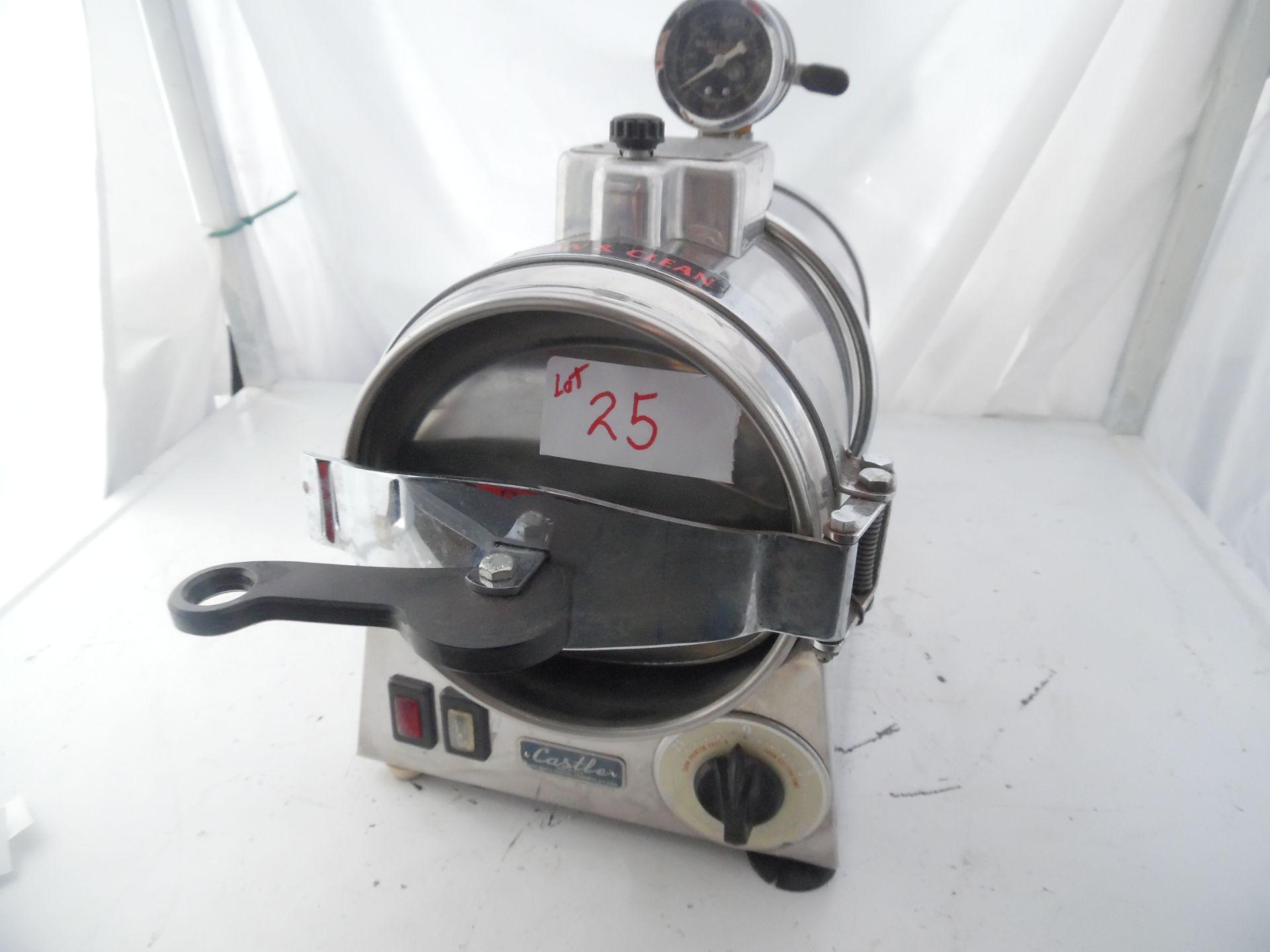 Castle Model 777 Autoclave Sterilizer.110V 10 amps.
