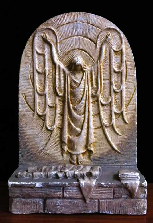 Unusual Collectable Plaster Fairing of Christ's Resurrection by Mary Nicoll - Image 2 of 6