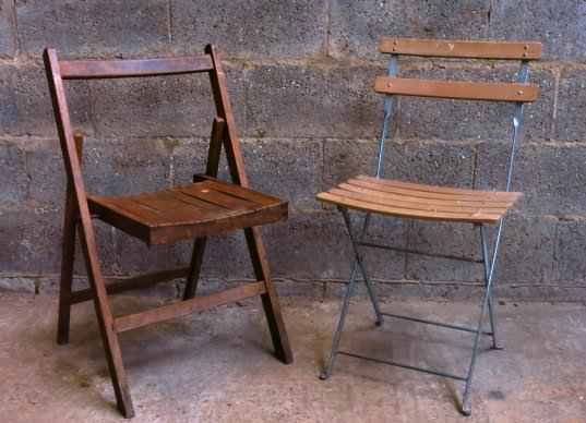 Two Folding Chairs - one old one new - Image 2 of 4