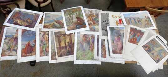 Folio of Bible Posters and Art Prints - Image 3 of 8