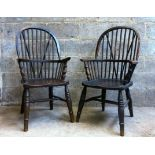 Victorian Windsor Stick Back Elm Chairs