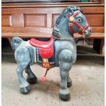 Mobo Early 1960s Tin Plate Wheeled Pedal Horse