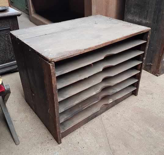 Victorian Printers Shelving Racking Unit Small - Image 3 of 4