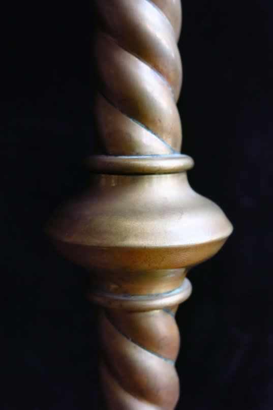 St Richard's Barley Twist Brass Altar Candlesticks - Image 3 of 4