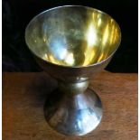Large Silver Plated Ex- Army Chalice with crosses