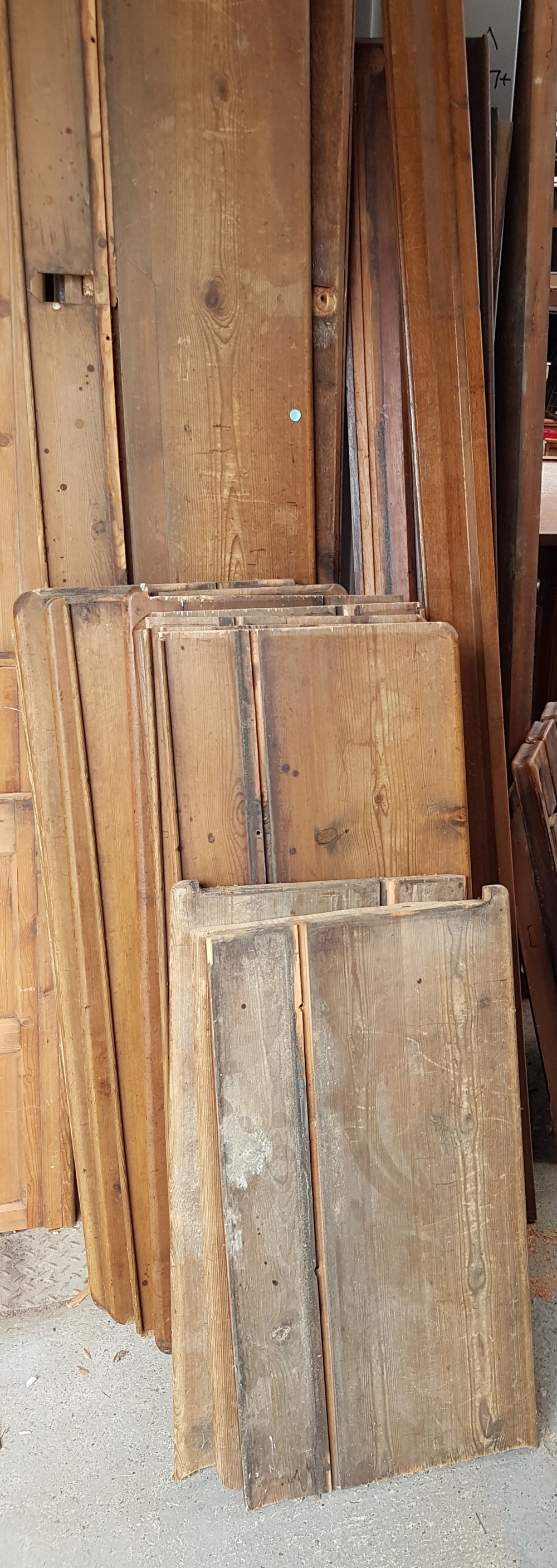 Extra Wide 1870 Seasoned Antique Pine planks pew seats - Image 2 of 3