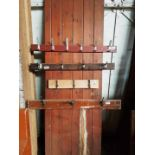 Four rows of hooks attached to T&G Panel