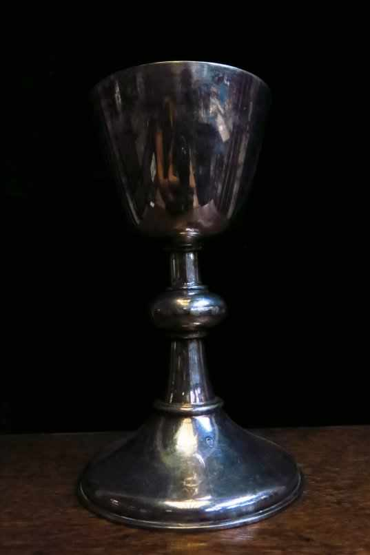 WW1 Large Silver Plated Army Chalice - Image 2 of 4