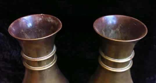 Outsize Church Brass Flower Vase Pair - Image 3 of 4