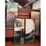 Four framed Collectable Guiness Point of Sale Prints