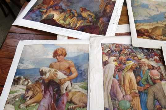 Folio of Bible Posters and Art Prints - Image 2 of 8