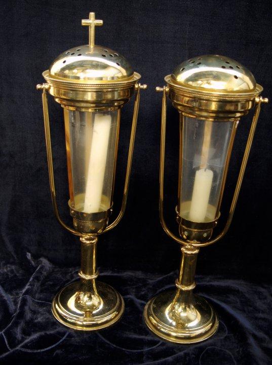 Acolyte Style Brass Table Lanterns St Teresa