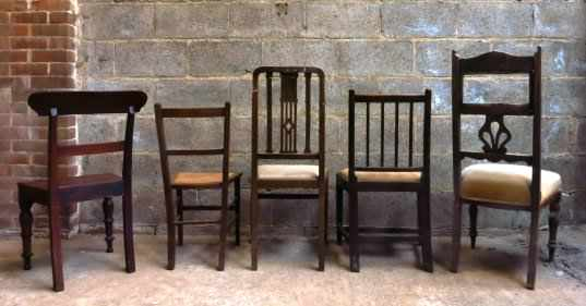 Five Old Mixed Chairs - George IV to George VI - Image 4 of 4