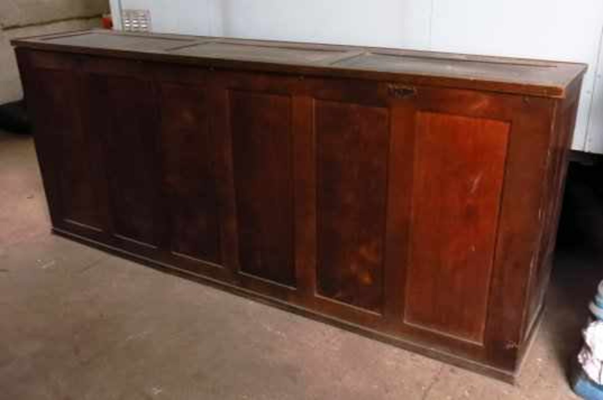 Extremely Large Oak Altar Vestment Chest - Image 4 of 10