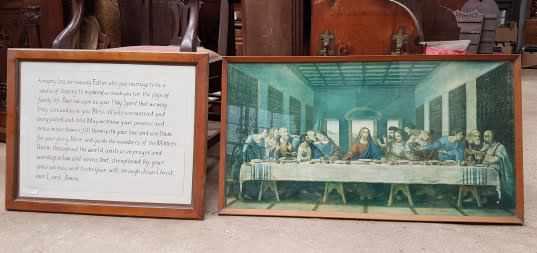 Large Last Supper Print and Framed Wedding Prayer Verse